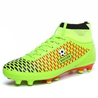 adult football boots - New Men s Soccer Shoes Cheap FG Football Boots Shoes High Ankle Soccer Cleats Boots For Adult Boys Top Quality size
