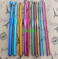 Wholesale Aluminum Crochet Hooks Needles Set of Knitting Needles Hook mm mm Brand New