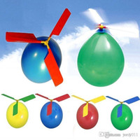 Wholesale Balloon Helicopter Flying Toy Kids Boys Girl Xmas Gift Christmas Stocking Filler Color Random Drop Shipping Toy Random
