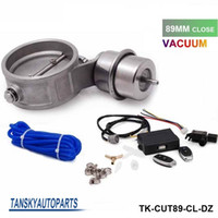 Wholesale Tansky Exhaust Control Valve Set With Vacuum Actuator CUTOUT MM Pipe CLOSE STYLE with Wireless Remote Controller TK CUT89 CL DZ