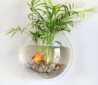 aquarium for homes - Ecological transparent wall aquarium acrylic aquarium round shape for home decor
