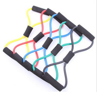 Wholesale Resistance Type Expander Rope Workout Exercise Yoga Tube Sports Rubber tubing Easy carry yoga cable machine