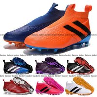 Wholesale 2016 Ace Pure Control FG Messi Mens Football Boots Top Soccer Shoes Mens Slip On Cleats Ace Pure Control Soccer Football Boots Shoe