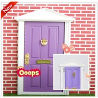 Wholesale 2016 pc doll fairy doors factory cute girls fairy doors children minature doors kids kindergraden photograph purple door