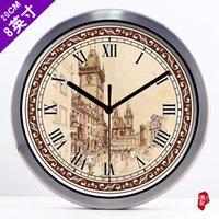 baroque wall clock - European style retro classic living room decorative Baroque clock quartz clock wall clock