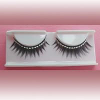 Wholesale 1cm to cm false eyelashes synthetic hair Rhinestone false eyelashes FE703R
