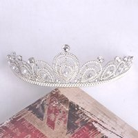 beading jewelry designs - Latest Design Luxury Bridal Tiaras Crowns Crystal Beading Upscale Wedding Jewelry Hair Accessories For Evening Party Hot Sale Cheap