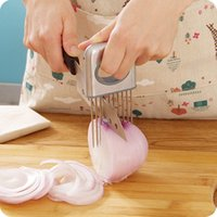 gadgets - Easy Onion Holder Slicer Vegetable tools Tomato Cutter Stainless Steel Kitchen Gadgets No More Stinky Hands