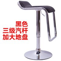 bar stool steel swivel - Fashion simple bar stool chair lift swivel stainless steel front desk Continental rotating