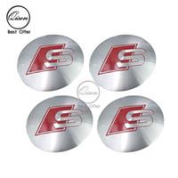 Wholesale 56 mm D Car Badge Wheel Center Hub Cap Sticker Durable Logo Brand Emblem Car Accessory Anti Fade Wheel Decoration Fit For SLINE