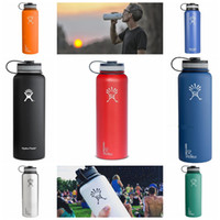 Wholesale Top Quality Hydro Flask oz oz Vacuum Insulated Stainless Steel Water Bottle Wide Mouth Cap Sports Hydration Gear Cup