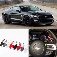 aluminum forks - Brand New Four Colors Steering Wheel Aluminum alloy Material DSG Paddle Shifters For Ford Mustang