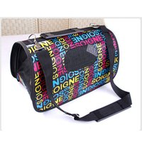 Wholesale Cat Dog Travel Carrier Bag Comfortable for Pet Travel with Bear Paw Plaid Letters Designs Sizes