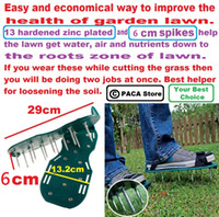 aerating spikes - Gardening Grass Lawn Plastic Aerating Shoes Greensward Spikes Loosening Equipment improve the health of garden lawn