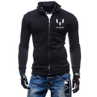barcelona color - 2016 NEW Fashion Men Hoodies Barcelona MESSI print Soccer Sports Suit Men Sweatshirt Hoodie Casual Zipper Hoodie Jackets Male