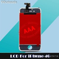 For Apple iPhone assembly line - For iPhone G S LCD Display touch Screen Digitizer assembly replacement NO Dead pixel no lines for iphone s g lcd free dhl