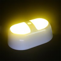 battery powered nightlight - New arrive LED Human Induction Nightlight Wireless Light operated Motion Sensor Battery Power Sconce Led Wall Lamp