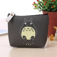 Wholesale Hot Sale Totoro Cute Cartoon Coin Purse Bag Casual Zero Headset Package Business Zip Credit Card Purse Keychain Pouch Women Bags