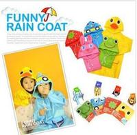 Wholesale Freeshipping New Fashion Baby Children s Kids Cartoon Animal Raincoat Children Rainwear