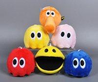 animal arcade games - 15 CM Pac Man Pixels War Long Nose Q bert Ghost Arcade Games Movies Cartoon Video Stuffed Animals Plush Cotton Toys Anime Gift