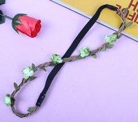 Wholesale Elastic ring beach Korean head ornaments Flower Bride Bridesmaid wreath wreath head headband knitting accessories