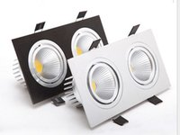 Wholesale Super Bright Recessed LED Dimmable head head Square Downlight COB W W LED Spot light Ceiling Lamp AC V V