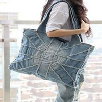 ladies bags uk - Brand New Women Handbag Large Capacity UK Flag Cross Denim Bag Solid Canvas Tote Vintage Blue Casual Ladies Shoulder Bags