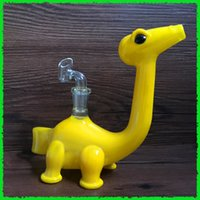 acrylic cleaning - 7 quot Dinosaur oil rigs dab rigs glass bongs Tyrannosaurus Glass water pipe with clean female polished joint mm
