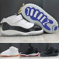 Wholesale 2016 Newaril Kids XI Retro Basketball Shoes Athletic Black White Colors Sports Shoes for Boys Girls Retros Snakers Shoes With Boxes
