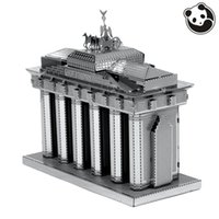 Wholesale Pandamodel Construction Famous Buildings Over The World D Metal Model Puzzles BRANDENBURG GATE Chinese Metal Earth Stainless