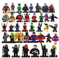 batman boxes - Hot New Year Gift High Quality No Box Mini Figure avenger super hero ironman batman Flash Building Blocks toys free ship