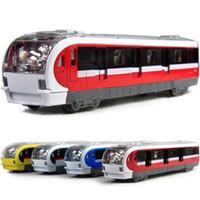 Precio de Trains-Tren de locomotora de aleación ligera de regreso a los juguetes de los niños de Beijing modelos de armonía EMU modelo de tren de alta velocidad