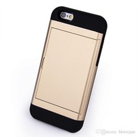 apple screen savers - 2016 NEW Colorful Color Armor Card Wallet Following For iphone S S Plus The Screen Saver