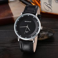 belt buckles yellow - Round Thin Minimalist Style High Quality Leather Belt Casual Men Luxury Quartz Watch Multi Color