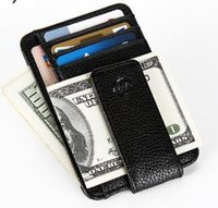 Wholesale 2016 New Fashion Wallet Men Wallet Money Clip Magnet Clip European and American Style Credit Card Case Small Originality Wallet