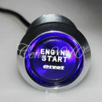 Wholesale 12V Car Engine Start Push Button Switch Ignition Starter Kit Blue LED Universal led whole led light with switch
