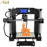 Wholesale 2016 High Quality Anet D Printer Easy Assembly Reprap prusa i3 D printer Kit DIY With m Filament Aluminum Hotbed LCD Free