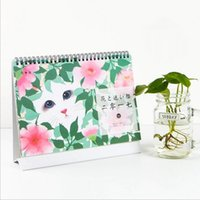 Wholesale quot Flower Cat quot Table Desk Calendar Big Size Cute Scheduler Agenda Monthly Planner Diary Checklist Memo Notebook To Do List Gift