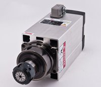 Wholesale 380V New KW Spindle Motor Air cooling Square Spindle Motor for Engraver