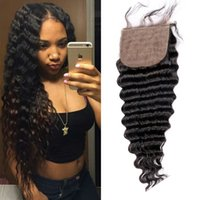Cheap Brazilian Hair silk base closure Best Natural Color Body Wave india remy lace closure