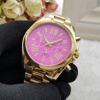 achat en gros de montres pour femmes de la mode or-2016 Nouvelle mode Design de mode de luxe Femme Montre en or argent Montre à quartz en acier inoxydable Montre Horloge Relogio Relojes De Marca Montre-bracelet