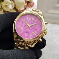al por mayor relojes de acero de la moda-Reloj de cuarzo del reloj del cuarzo del acero inoxidable del reloj de la plata del oro de las mujeres del diseño de la manera de la manera de 2016 Relojes de marca Reloj Relojes de pulsera