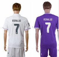 Cheap 2016-2017 Real Madrid Scccer Jersey Cheap Mens Soccer Sets High Quality 7 RONALDO 9 BENZEMA 10 JAMES 11 BALE Soccer Uniforms Custom Jerseys