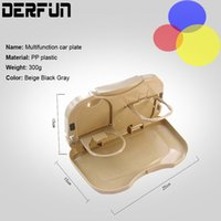 Wholesale Foldable Car Back Seat Table Tray Car Chair Back Stand Cup Food Drink Bottle Rack Holder