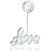 best love seat - The Best Quality Wedding Supply Table Number Menu Seating Place Card Exquisite Love Clip Lowest Price