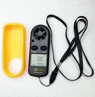 air analyzer - 10pcs GM816 m s Digital Air velocity LCD Hand held Wind Speed Gauge Meter Measure Anemometer Thermometer temp analyzer with backlight