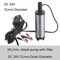 Wholesale 51mm outlet diameter L min flow V DC kerosene pump with battery clamp or Cigarette lighter
