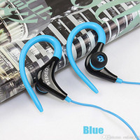 Wholesale New Sport Headphone Headset Stereo Handsfree Ear Hook Earphone With Mic mm Earbuds For All Mobile Phone Tablet MP3