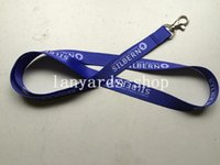 apple users - New Arrive bluish violet flat lanyard with white logo user defined mmx90cm neck lanyard lobster hook cheap strap