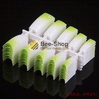 acrylic glitter pre mix - 100 Beauty False Acrylic Glitter Nail Tips Green Mix White Pre Design False French Nail Art Tips NEW